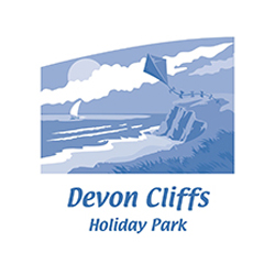 Devon Cliffs logo. Click for website.