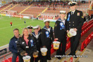 HMS Defender crew at Exeter City FC Collection