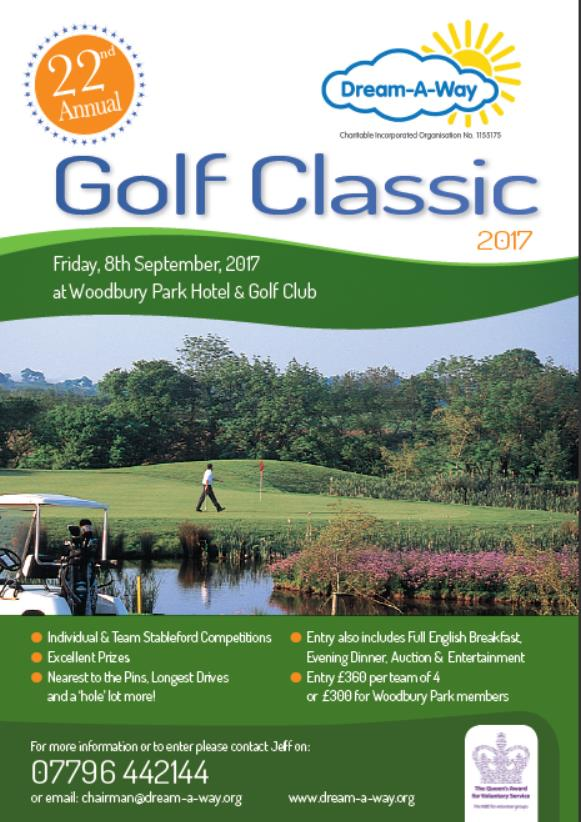 Golf Classic poster for event on 8th Sept