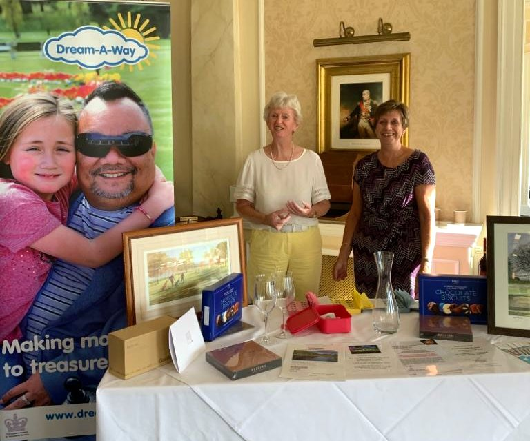 Jackie Follett and colleague raising funds for Dream-A-Way at the club